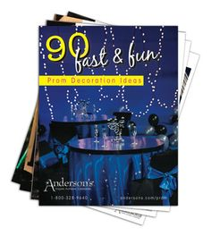 Get this free guide with 90 Fast and Fun Prom Decorations Ideas.