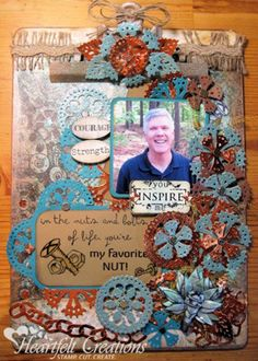Heartfelt Creations | All Geared Up Altered Clipboard