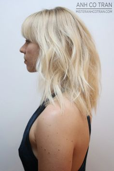 LA: SEXY HAIRCUTS HAPPEN AT RAMIREZ|TRAN. Cut/Style: Anh Co Tran. #bangs #besthair #hair #losangeles #model #blonde #beauty #anhcotran #ramireztransalon