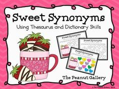 Students will find thesaurus and dictionary practice involving synonyms a little sweeter with this color coding activity! ($)