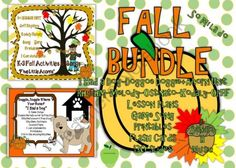 "FALL Kodaly & Orff Game Songs ""5 Little Acorns"", ""I Had a Dog"", ""Doggie Doggie"" from Sandra H Music on TeachersNotebook.com -  (130 pages)  - FALL theme Kodaly and Orff Songs and Games and Printables. I Had a Dog, Doggie, Doggie, 5 Little Acorns"