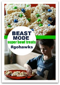 Making these tonight to take to work for Blue Friday Party!   Beast Mode Rice Krispie Treats -