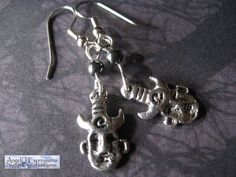 Supernatural Samulet Earrings in Hematite by AngelQ on Etsy, $8.95