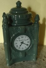 Charming vintage Advertising Marshall Fields clock cookie jar Frango Mints $125.00 www.jazzejunque.com