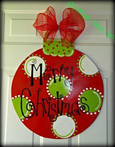 Christmas Ornament Door Hanger on Etsy, $30.00