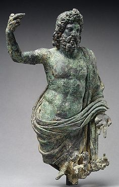 Bronze statuette of Jupiter.  Period:     Mid-Imperial. Date:     2nd half of 2nd century A.D. Culture:     Roman.