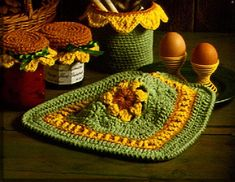 Sunflower Dishcloth by Bernat