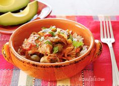 Criolla (literally creole) is a Spanish word widely used to describe Caribbean or Hispanic cuisine.  Crock Pot Chicken a la Criolla   Skinnytaste