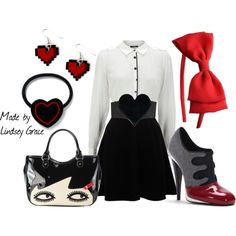 Heart belt, created by lindsey-maren-grace on Polyvore