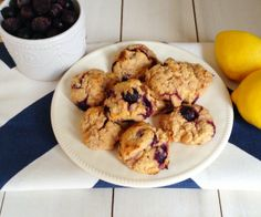 Lemon Blueberry Breakfast Bites - a great option for breakfast on the go or an afternoon snack.  http://stalkerville.net/ #paleo