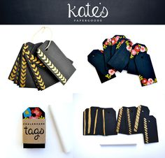 Chalkboard Christmas tags. What a great idea!