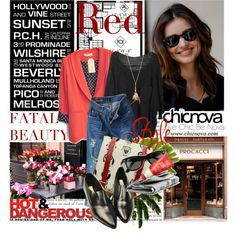 """Just Red CHICNOVA 4"" by helenevlacho on Polyvore"
