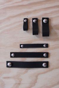 Nu interieur|ontwerp leather Handle black