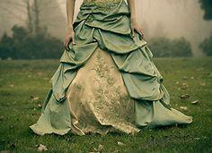Lovely green dress.