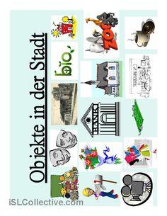 Objekte in der Stadt Arbeitsblatt - Kostenlose DAF Arbeitsblätter