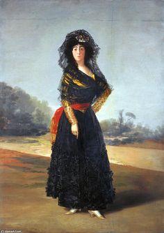The Duchess of Alba (2), Oil On Canvas by Francisco De Goya (1746-1828, Spain)