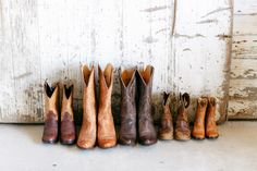 cowboy boots for all // photo by Kina Wicks // http://ruffledblog.com/romantic-illinois-farm-wedding