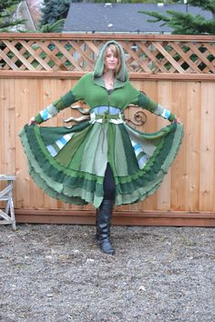 upcycl sweater, green, sweater coatooakfield, recycled sweaters, christmas ideas