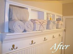 Bathroom storage idea: add recessed shelves!