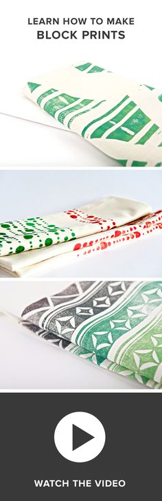 DIY Tutorial: Learn How to Block Print by Darby Smart & PureWow