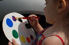 """invisible paint"" using nail polish....my kid would LOVE this!!!"