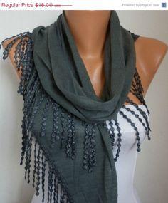 Lace Scarf   scarf shawl  Sale scarf  Free scarf   by anils, $16.20
