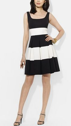 Black and white with pretty pleats!