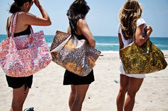 DIY oilcloth BIG beach bag