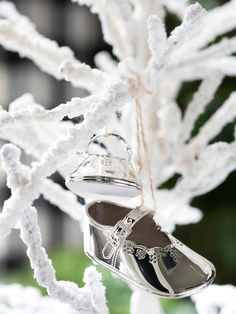 Sweet Baby Shoes in 10 Easy-to-Make Holiday Tree Ornaments from HGTV