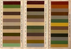 Old victorian color scheme.. Great Earthy Colors!
