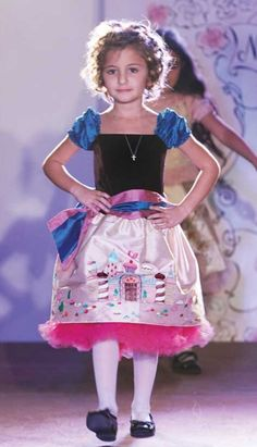 Ninachka Couture Gingerbread Castle Hand Painted Dress.