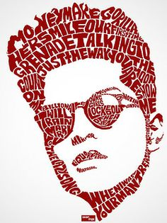 Bruno Mars Typographic Design