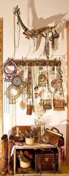 Gypsy jewelry display