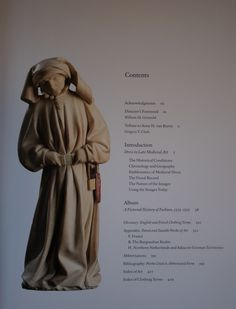 """Table of contents to """"Illuminating Fashion: Dress in the Art of Medieval France and the Netherlands, 1325-1515"""""""