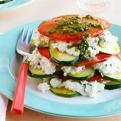 "Satisfy your Italian cravings while staying on the light side with Vegetable ""Lasagna"" Stacks"