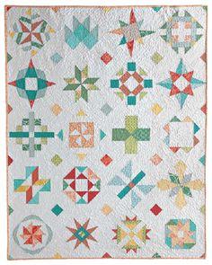 Meet the Vintage Quilt Revival Quilts: Sampler on Point by Fresh Lemons Quilts vintage quilts, vintag quilt, lemon quilt, reviv quilt, quilt inspir, quilt reviv, sampler quilts, fresh lemon