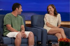 """SNL"" Pals Adam Sandler And Molly Shannon Trade Stories On The CONAN Couch"