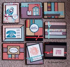 Cards using 6x6 pads with no waste (OSW) - read through to find more links and tutorials