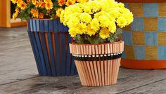 Pencil-Patterned Flowerpots (May 2014)