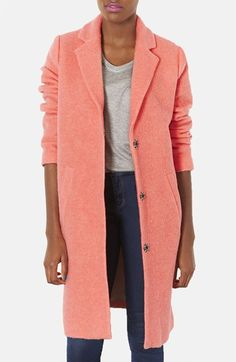 Topshop Wool Blend Boyfriend Coat available at #Nordstrom