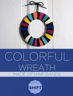 Another easy wreath~Gonna do this with Christmas colors.
