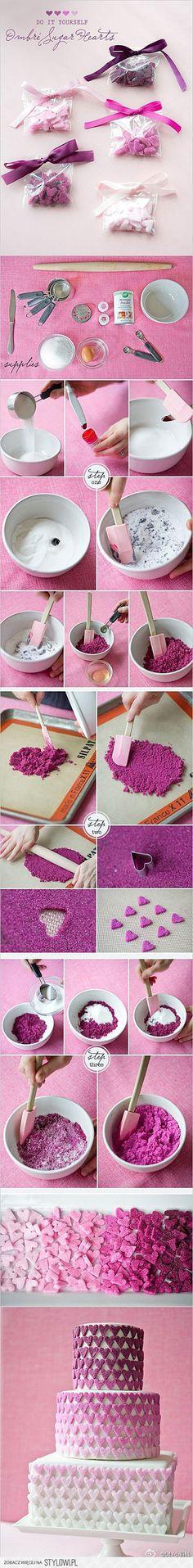 DIY sugar shapes