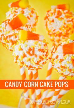 Candy Corn Cake Pops