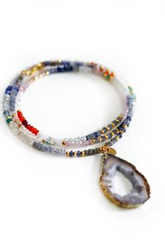 LILY mixed gemstone necklace