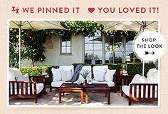 One Kings Lane Pinterest Favorite: Easy, Breezy Outdoor Oasis