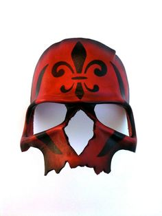 Red Death Leather Mask by mrhydesleather on Etsy, $48.00