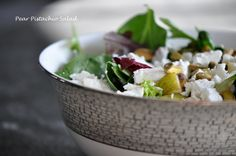 summer salads- pear and goat cheese