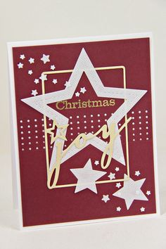 Christmas Joy Card by Erin Lincoln for Papertrey Ink (September 2014)
