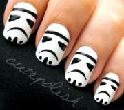 Storm Trooper nails: what's not to love?