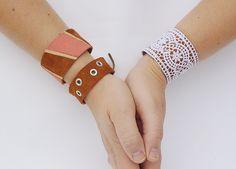 DIY On Trend Leather Cuffs